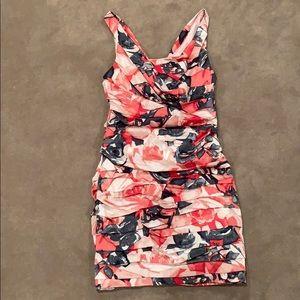 Express flower ruffle dress